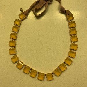 J. Crew Factory cloth tie crystal necklace